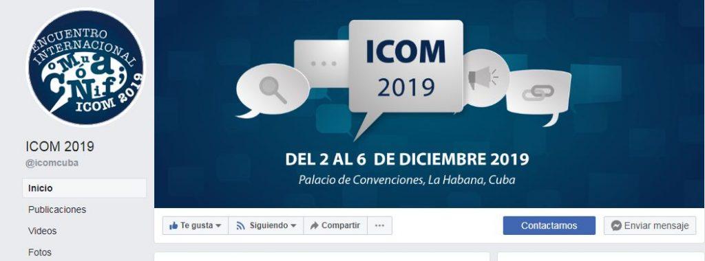 Página de ICOM en Facebook
